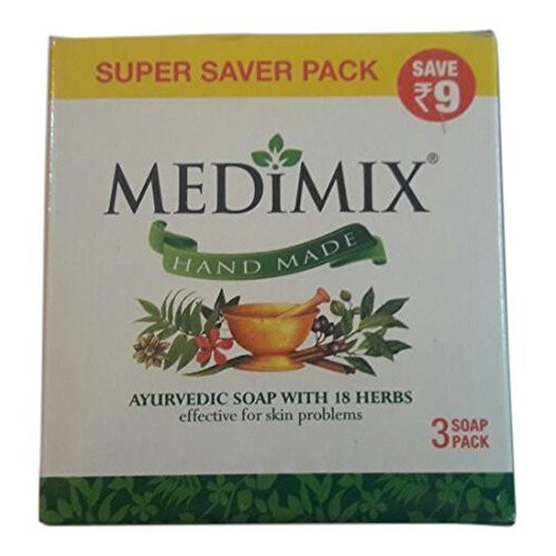 125 G Medimix Ayurvedic Soap With 18 Herbs pack Of 3
