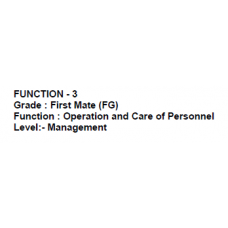 CHIEF MATE (FG) ORALS NOTE FUNCTION – 3