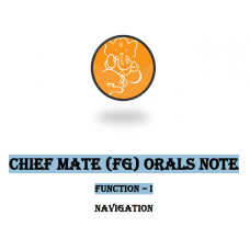 CHIEF MATE (FG) ORALS NOTE FUNCTION – I